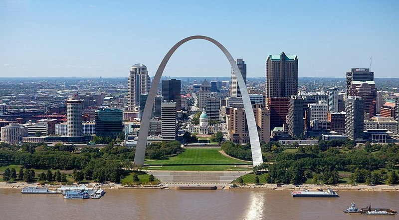 Downtown St. Louis skyline from the east