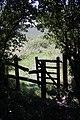 Gateway on footpath - geograph.org.uk - 1379722.jpg
