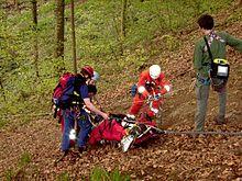 Operazioni di soccorso in montagna