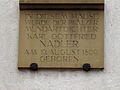 Gedenktafel am Geburtshaus von Karl Gottfried Nadler, Augustinergasse 7, östliche Platzwand des Universitätsplatzes Heidelberg .JPG