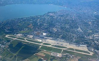 Geneva Airport - Image: Geneva airport from air