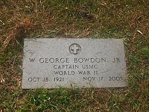 W. George Bowdon Jr. - Grave of former Alexandria Mayor W. George Bowdon Jr., in Greenwood Memorial Park in Pineville