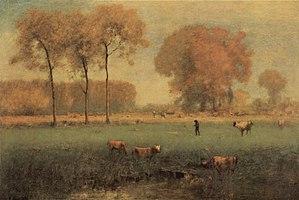 American Barbizon school - George Inness' Summer Landscape, 1894.