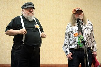 Edward Bryant - Bryant (right) with George R. R. Martin (left) in November 2016 at TusCon in Tucson, Arizona.