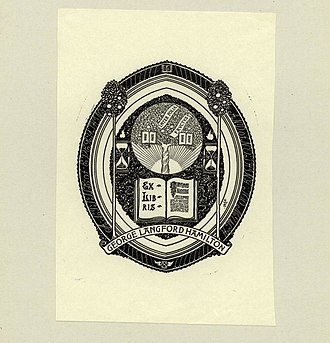 George Wharton Edwards - Image: George Wharton Edwards Bookplate George Langford Hamilton
