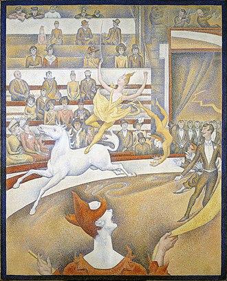 La Femme au Cheval - Georges Seurat, 1891, Le Cirque (The Circus), oil on canvas, 185 x 152 cm, Musée d'Orsay, Paris
