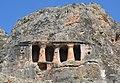 Gerdek Rock Tomb front detail, Hellenistic period, 2nd century BC, district of Çorum, Turkey.jpg