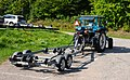 Getting the boat out of the water 1 - Hitching the boat trailer to a tractor.jpg