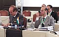 Ghulam Nabi Azad and the Secretary, Dept of Health Research and DG (ICMR), Dr V M Katoch, at the 3rd BRICS Health Ministers' meeting, at Cape Town, South Africa on November 07, 2013.jpg