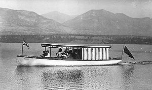 Ptarmigan (sternwheeler) - The gasoline launch Gian, from which Northcote Cantlie taunted Captain Armstrong of Ptarmigan into racing.