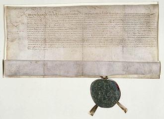 Robert Giffard de Moncel - 1658 letters of nobility granting to Giffard.