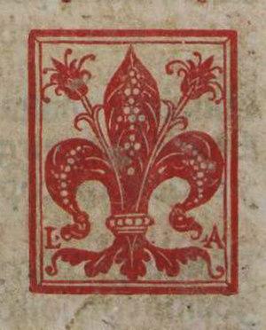 Giunti (printers) - Image: Giglio Giunti 1521