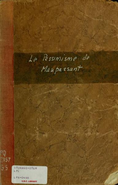 File:Gistucci - Le Pessimisme de Maupassant, 1909.djvu