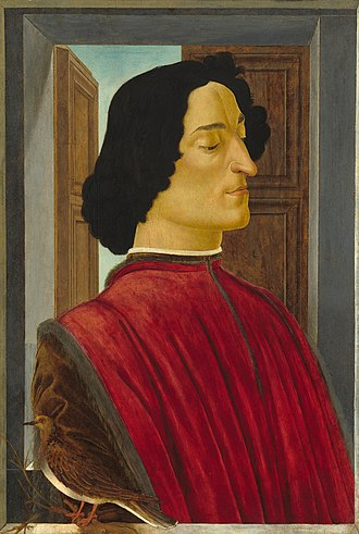 Giuliano de' Medici - Portrait by Sandro Botticelli.