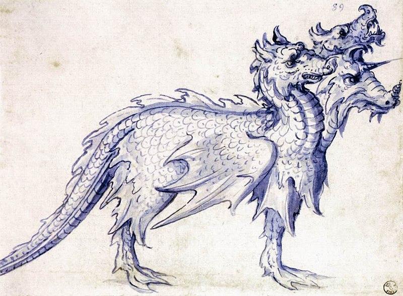 File:Giuseppe Arcimboldo - Sketch for a Cerberus - WGA00875.jpg