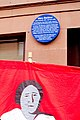 Glasgow Rent Strikes Blue Plaque at 10 Hutton Drive, Linthouse, and Mary Barbour banner.jpg