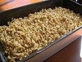 Glazed Crumb Topped Banana Bread in tin, February 2007.jpg