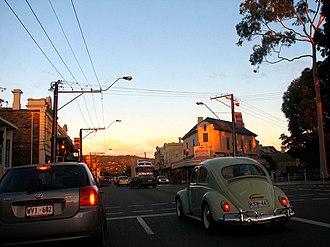 Glen Osmond Road, Adelaide - Peak hour traffic on Glen Osmond Road
