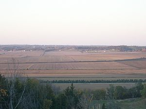 Glenwood, Iowa - View of Glenwood, Iowa looking north from the Loess Hills.