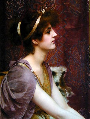 Art Renewal Center - Classical Beauty, by John William Godward, (collection of Sherry and Fred Ross)