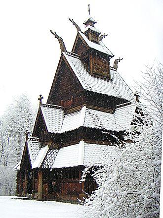 Norwegian Museum of Cultural History - Image: Gol stavkirke, vinter