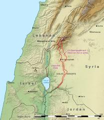 Topographische Karte der Golanhöhen