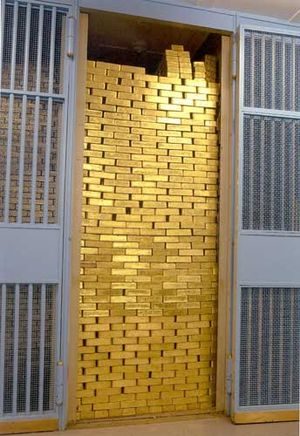 A picture from the gold vault of the Federal R...