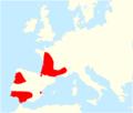 Gomphus graslinii range map.png