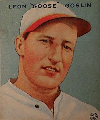 Goose Goslin - Goslin 1933 Goudey card.