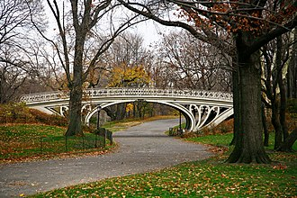 1864 in architecture - Image: Gothic Bridge of Central Park December 2010
