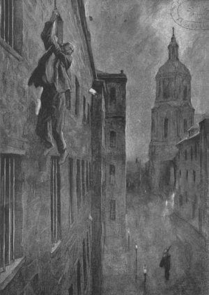 Gottfried Kinkel - Drawing recreating Kinkel's escape from Spandau