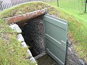 Grain Earth House door