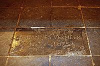 """Grave of Johannes Vermeer in the """"Oude Kerk"""" (4260837052).jpg"""