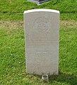 Gravestone of Corporal Hughie Jones of the Royal Welch Fusiliers, at St Dyfnan's Church, Llanddyfnan, July 2008.jpg