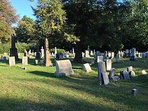 Amherst West Cemetery - Image: Gravestones