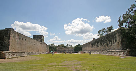 Great Ballcourt at Chichen Itza GreatBallCourt-interior.jpg