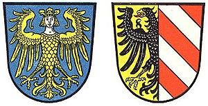 Langwasser - Image: Greater and Lesser Coats of arms of Nürnberg