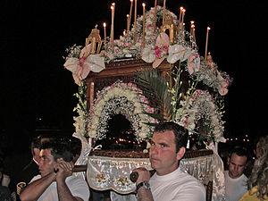 Grecia, isola di Idra, Venerdì Santo, processi...