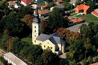 Cathedral of Hajdúdorog - Aerial view of the cathedral