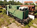 Green snow plow locomotive pic5.JPG