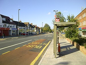 Greenford - Bus stop in Greenford Road