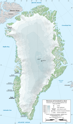Map of Greenland Greenland ice sheet AMSL thickness map-en.png