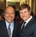 Greg Hernandez and Guy Wilson at 2014 Daytime Emmys.jpg