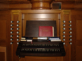 Grossenlueder Bimbach Catholic Church St Laurentius Organ console f.png