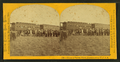 Group of Pawnee warrs. (warriors) & palace cars of U.P.R.R, by Carbutt, John, 1832-1905.png