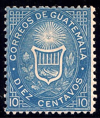 Ferdinand Joubert - An 1871 stamp of Guatemala, engraved by Joubert.