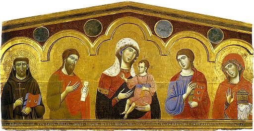 uido da Siena, Madonna col bambino e santi, 1270 circa