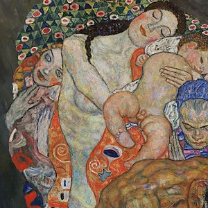 Death and Life - Image: Gustav Klimt Death and Life detail Google Art Project