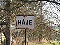 Háje (Srbice), cedule.jpg