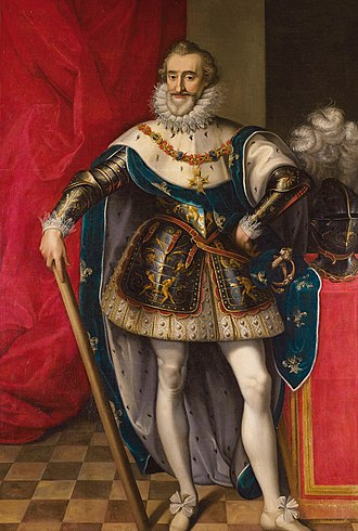 Siege of Calais (1596) - Portrait of Henry IV of France by Frans Pourbus.